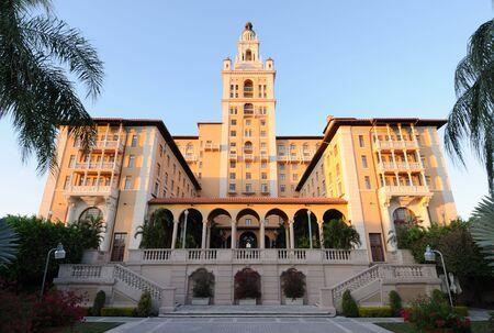 historic: The historic Biltmore Hotel in Coral Gables, Miami Florida
