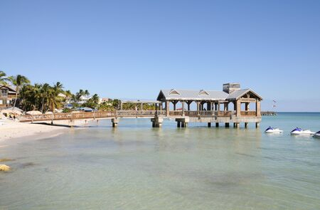 Pier at the beach in Key West, Florida USA photo