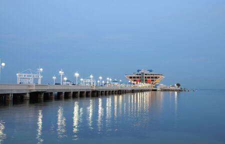 st  pete: Pier in St Petersburt at night, Florida USA Stock Photo