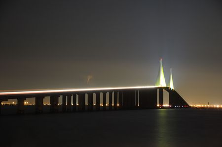 tampa bay: The Sunshine Skyway Bridge over Tampa Bay Florida