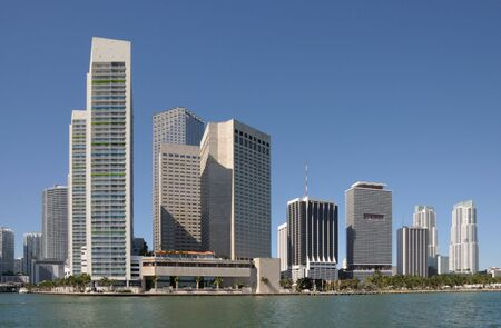 daytime: Highrise Buildings in Downtown Miami, Florida