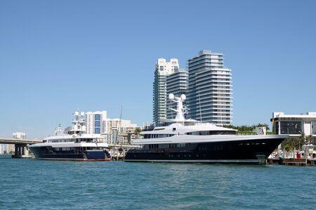 Luxury Yachts at Miami Beach Marina, Florida photo