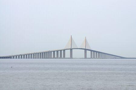 Sunshine Skyway Bridge over the Tampa Bay, Florida photo