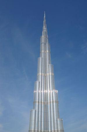 Rascacielos m�s altos en el mundo - Burj Dubai (Burj Khalifa), Dubai Emiratos �rabes Unidos  Foto de archivo - 6347213