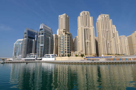 Luxury Apartment Buildings at Dubai Marina. Dubai United Arab Emirates photo