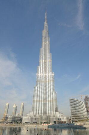 postmodern: Highest Skyscraper in the World - Burj Khalifa, Dubai United Arab Emirates Editorial
