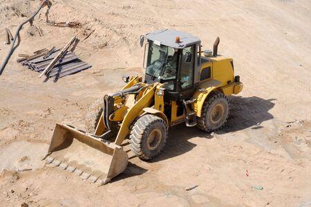 Wheel Loader Bulldozer at Construction Site Stock Photo - 6379398