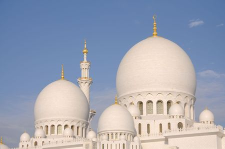 sheikh: Sheikh Zayed Mosque in Abu Dhabi, United Arab Emirates Stock Photo