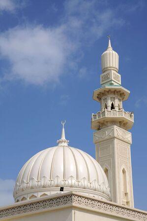 sharjah: Beautiful mosque in Sharjah City, United Arab Emirates Stock Photo