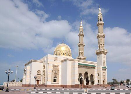 sharjah: Beautiful Mosque in Sharjah City, United Arab Emirates