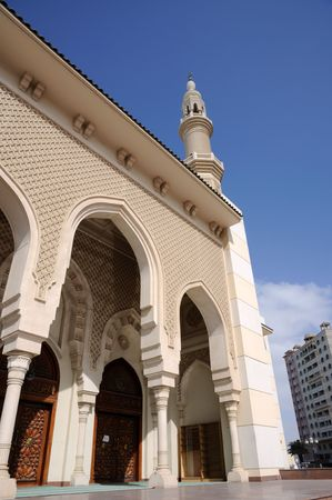 sharjah: Detail of a mosque in Sharjah City, United Arab Emirates