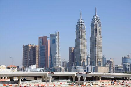 dubai city: Skyscrapers in Dubai City, United Arab Emirates Stock Photo