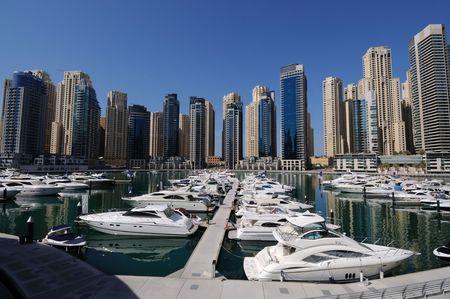 Verenigde Arabische Emiraten: Jachten op Dubai Marina, Verenigde Arabische Emiraten