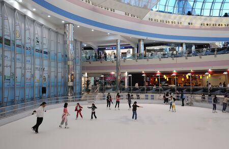 ice rink: Ice Rink in the Marina Mall, Abu Dhabi United Arab Emirates. Photo taken at Janaury 25, 2010 Editorial