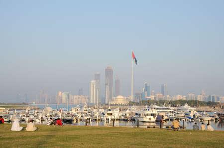 mall of the emirates: Abu Dhabi skyline from the Marina Mall, United Arab Emirates. Photo taken at Janaury 25, 2010