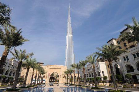 Highest Skyscraper in the World - Burj Dubai (Burj Khalifa), Dubai United Arab Emirates Editorial