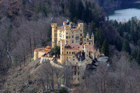 schwangau: Historic Castle Hohenschwangau in Bavaria, Germany