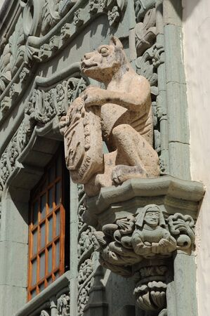 Lion Statue at House of Colubus in Las Palmas de Gran Canaria Stock Photo - 6993891