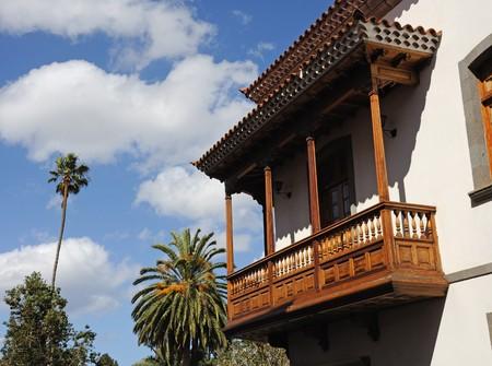 gran: Traditional Balcony on Canary Island Gran Canaria, Spain