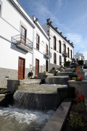 canaria: Waterfall in town Firgas, Canary Island Gran Canaria Spain
