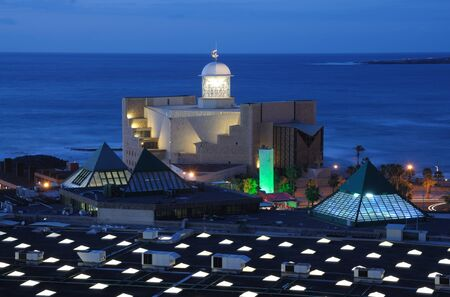 Auditorio Aflredo Kraus at dusk. Canary Island Gran Canaria, Spain Stock Photo - 6993970