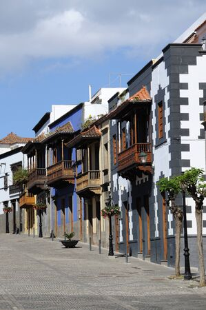 grand canary: Street in historic town Teror, Grand Canary, Spain