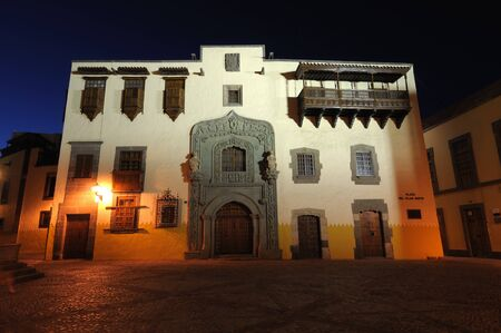 casa colon: Casa Museo de Colon (Columbus House) in Las Palmas de Gran Canaria, Spain Stock Photo