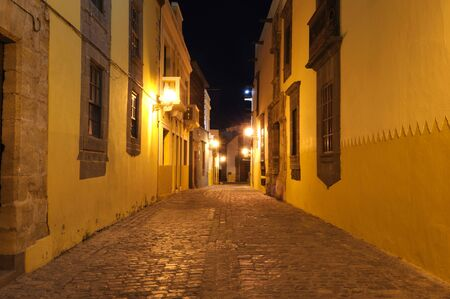 Street in Las Palmas de Gran Canaria at night Stock Photo - 6994031