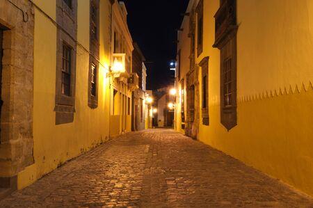 Street in Las Palmas de Gran Canaria at night Stock Photo - 6994031