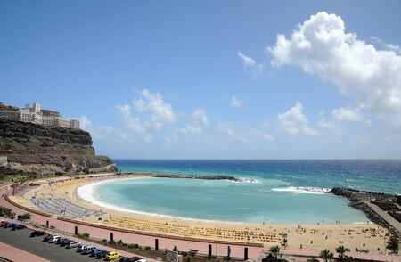 grand canary: Beach Playa de los Amadores on Grand Canary Island, Spain Stock Photo