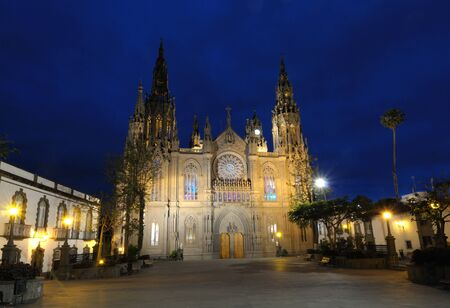 grand canary: Arucas Cathedral at night. Grand Canary, Spain