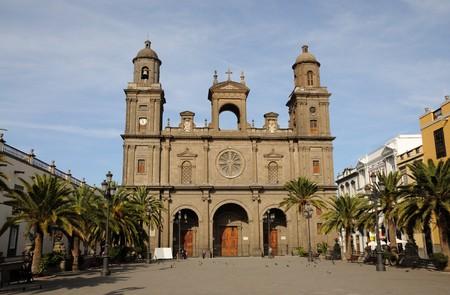 gran: Santa Ana Cathedral in Las Palmas de Gran Canaria, Spain Stock Photo