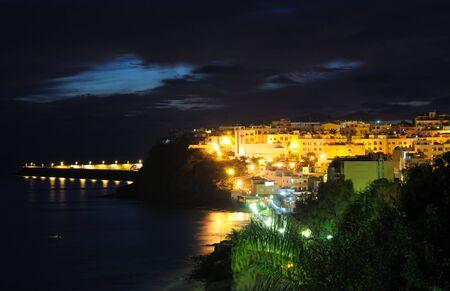 Town Morro Jable illuminated at night. Canary Island Fuerteventura, Spain  photo