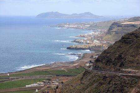 grand canary: View over the coast of Grand Canary Island, Spain Stock Photo