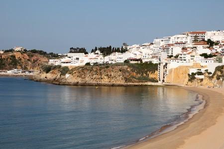 Albufeira beach in Algarve, Portugal photo