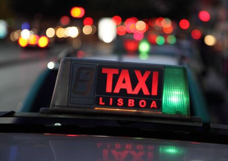 Taxi in the capital city of Portugal - Lisbon photo