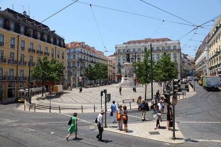chiado: Praca Luis de Camoes, Chiado district in Lisbon, Portugal. Photo taken at 26 June 2010
