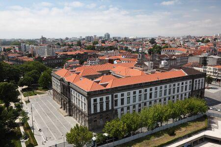 oporto: Aerial view of Oporto, Portugal