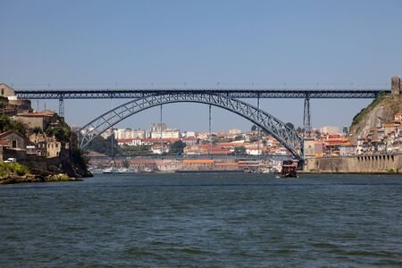 Douro river and the Dom Luis Bridge in Porto, Portugal Stock Photo - 7581752