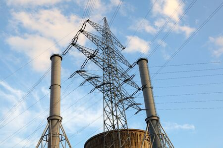Electrical tower at nuclear power station photo