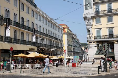Luis de Camoes square in Lisbon, Portugal. Photo taken at 25th of June 2010