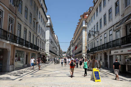 augusta: Rua Augusta in Lisbon, Portugal. Photo taken at 27th of June 2010