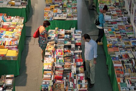 People in a bookshop. Gare do Oriente, Lisbon. Photo taken at 28th of June 2010 Stock Photo - 7738717