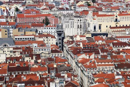 carmo: View over the old city of Lisbon, Portugal