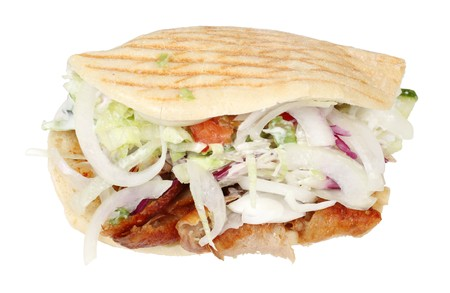 Doner kebab isolated over white background