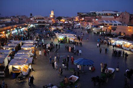 marrakesh: Piazza Djemaa El Fna a Marrakech, Marocco. Foto scattata al 20 novembre 2008