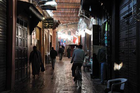 medina: Scenery in the Medina of Marrakech, Morocco. Photo taken at 22th of November 2008