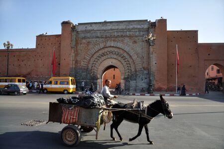 nineteen: Bab Agnaou - uno dei diciannove cancelli di Marrakech, Marocco. Foto scattata al 22 novembre 2008