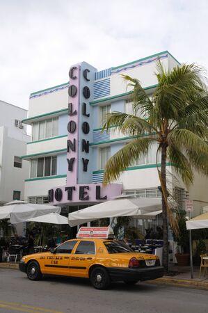 artdeco: Hotel de Colonia de Art Deco en South Beach de Miami, Florida. Foto tomada en el 11 de noviembre de 2009