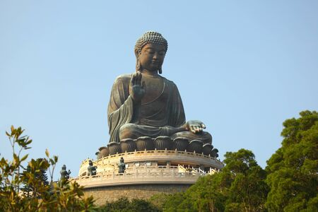 Giant Buddha Statue in Tian Tan. Hong Kong, China Stock Photo - 8443411